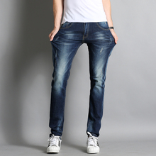 2017 New design Spring Famous Brand Men Slim Jeans male 100% Cotton Straight Pants Long denim Trousers