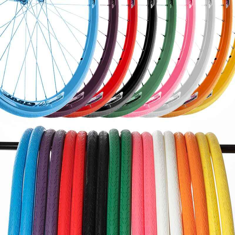 Road Bike Solid Tire Puncture-proof Bicycle Wheel Tubeless Tyre 700x23C 24*1//38