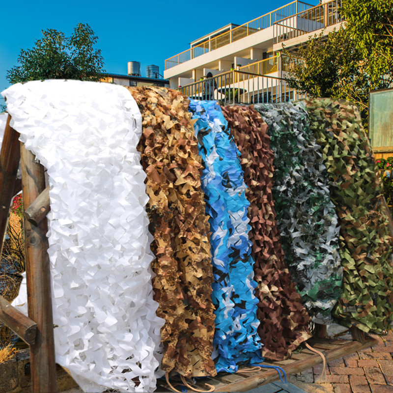 2X4m/2x5m/3x4m/4x5m Double Layer Military Camouflage Net Sun Shelter Camo Netting For Hunting Camping Home Decoration 10 Colors