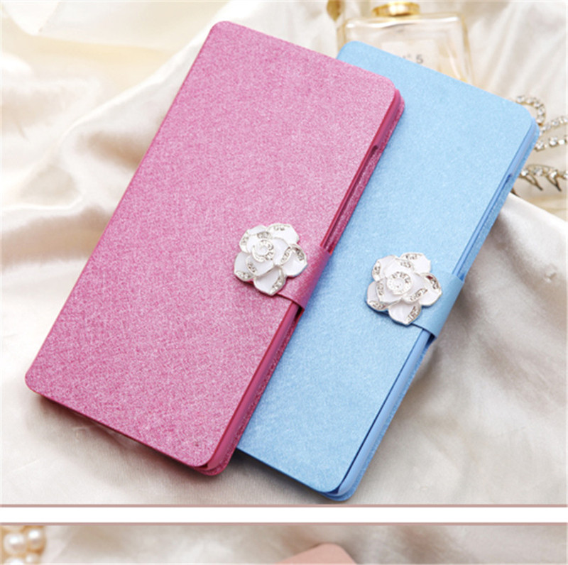 High Quality Wallet Phone Case For Lenovo A5000 A 5000 5 0 39 39 Fundas PU Leather Flip Stand Case Cover With diamond in Flip Cases from Cellphones amp Telecommunications