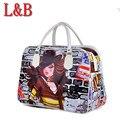 Formas de chica de moda lindo de LA PU de equipaje bolsa de viaje impermeable femenina bolsos de las mujeres bolsos bolso Maleta excursiones viajes cortos