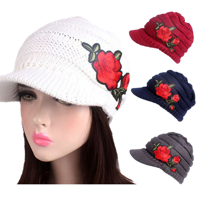 34d799569f513a Women Winter Knitting Hat Berets Turban Brim Hat Cap Pile Casual girl  Acrylic Wool Touca inverno Beanie hat