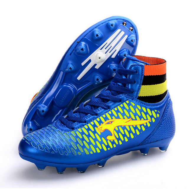 2017 Men High Ankle Soccer Shoes FG Football Boots Boys Kids Sport Soccer  Cleats Football Sock