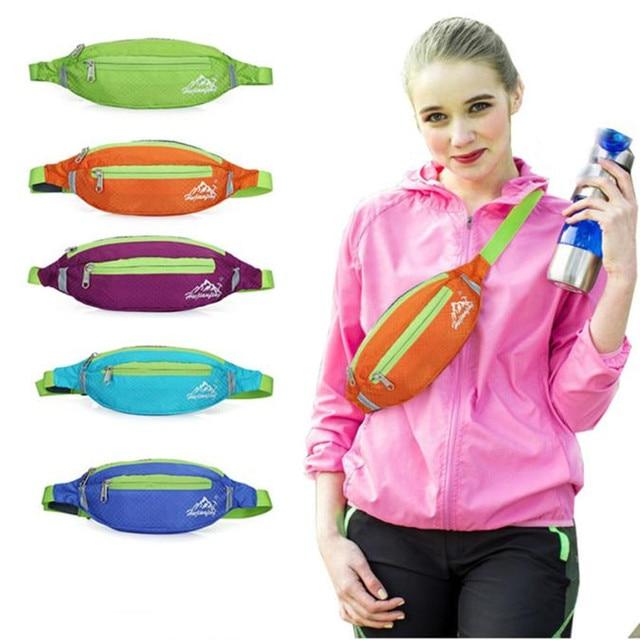 c5a4ac0303d9 Unisex Running Bum Bag Travel Handy Hiking Sport Fanny Pack Waist Belt Zip  Pouch for Cellphone Running Bag free shipping-in Running Bags from Sports &  ...