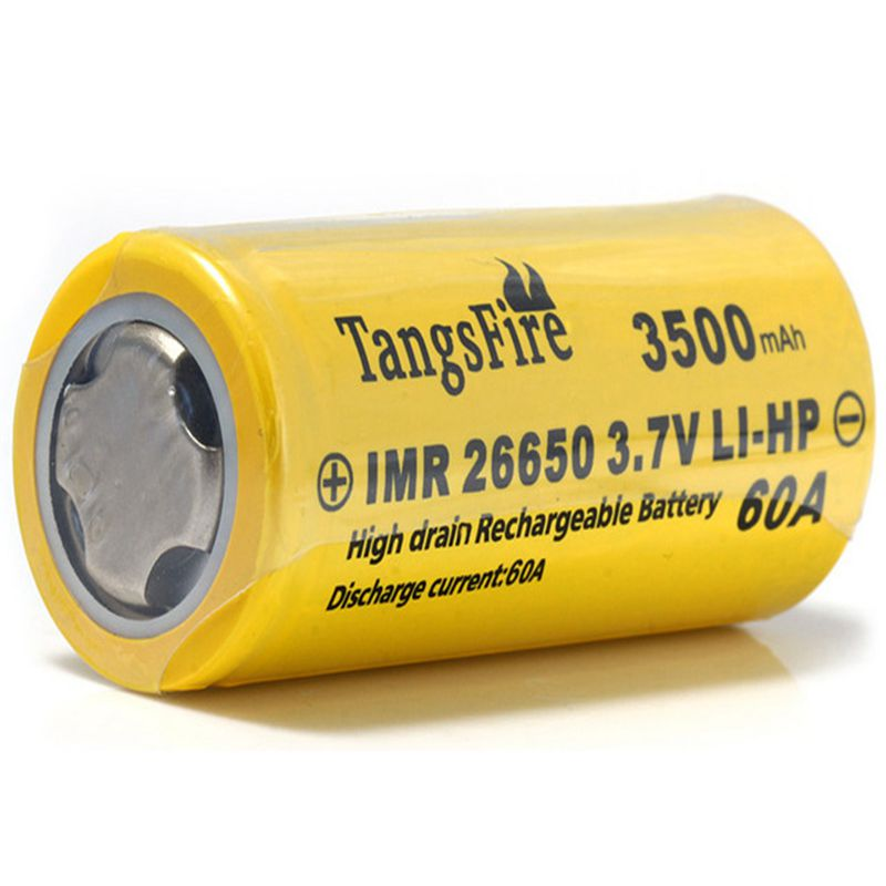 26650 high quality battery 1 flat top IMR 26650 3500mAh 60A 3.7V rechargeable LI-HP battery free shipping image