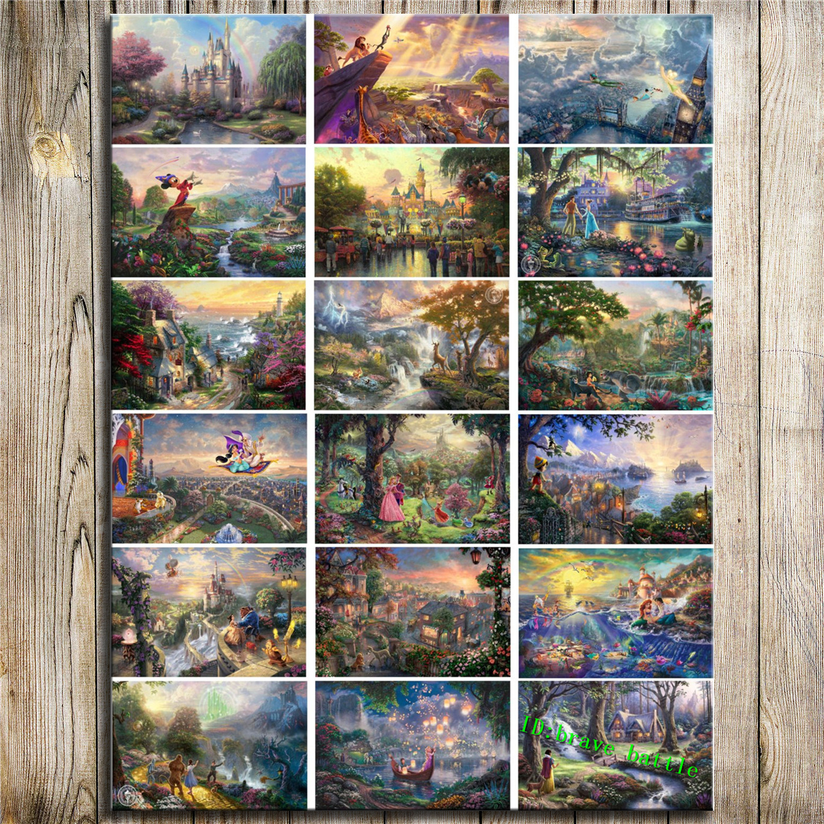 Thomas Kinkade Christmas.Us 12 76 42 Off Thomas Kinkade Christmas Bambi First Year Cinderella Wishes Princess Elves Fairy Hd Print Canvas Home Decor Art Oil Painting In