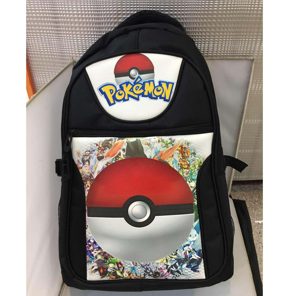 Anime Pikachu Poke Ball Laptop Black Backpack/Double-Shoulder/School/Travel Bag for Teenagers or Animation Enthusiasts anime tokyo ghoul kaneki ken laptop black backpack double shoulder school travel bag for teenagers or animation enthusiasts