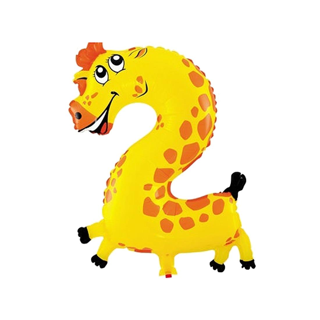 NEW Cute kids Pet Numbers Foil Balloon Animal Air walker Helium Fun  Birthday Parties Decor Giraffe