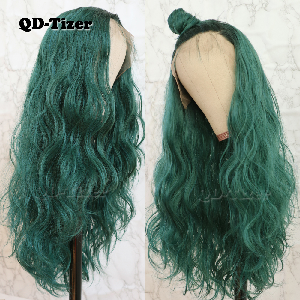 QD Tizer Hair Loose Wave Hair Lace Wig with BabyHair Glueless Heat Resistant Synthetic Lace Front