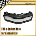 Car-styling FRP Fiber Glass Type R Front Grill Racing Grille Mesh Fit For Honda 2007-2011 Civic FN2 In Stock