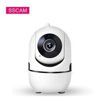 цена на 1MP HD 720P Mini Wifi IP Camera Pan Tilt Auto Tracking Motion Detection Two Way Audio YCC365 Wireless IP Camera Baby Monitor