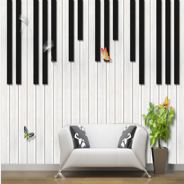Photo Wallpaper Custom Piano Fashion Creative Music Mural TV Background Wall Living Room Studio Classroom Decoration