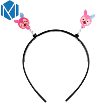 M MISM 1pc Children Girl Gift Hair Accessories Hairband Candy Colors Lovely Character Fox with Dot Spring Headwear Hoop