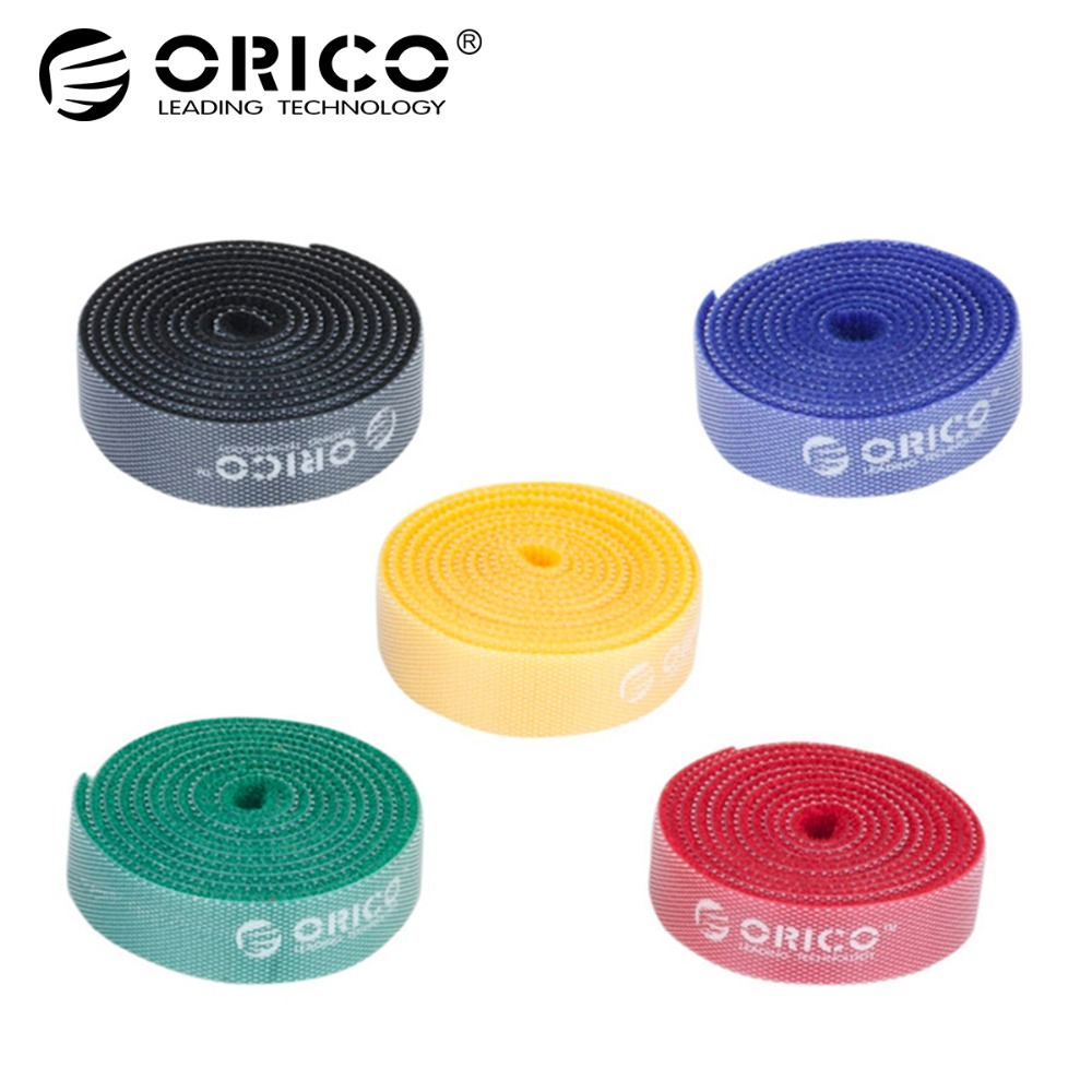 ORICO CBT Cable Manager Nylon Cable Mark Colorful Ties Label Brand Belting Ribbon Wire Binging Strap Seals For Your Computer арматура крепежная apc horizontal cable manager