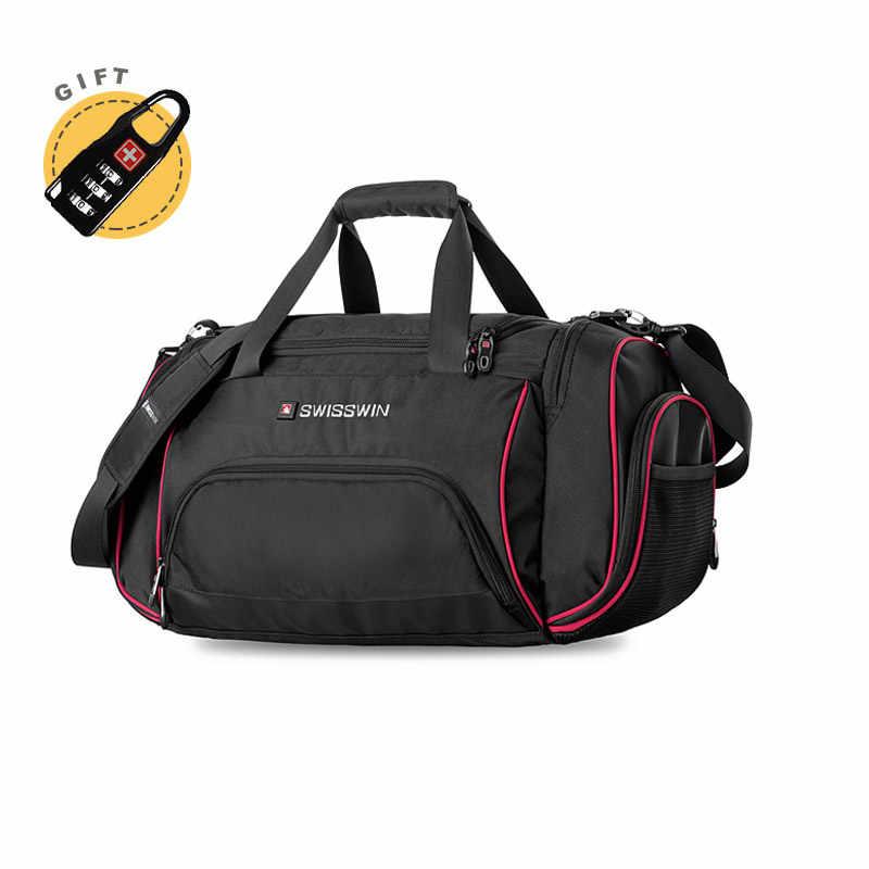 897ffdb09a Swiss Travel Bag Male Large Capacity Lightweight Travel Messenger Shoulder Bag  Women Big Portable Duffel Bag