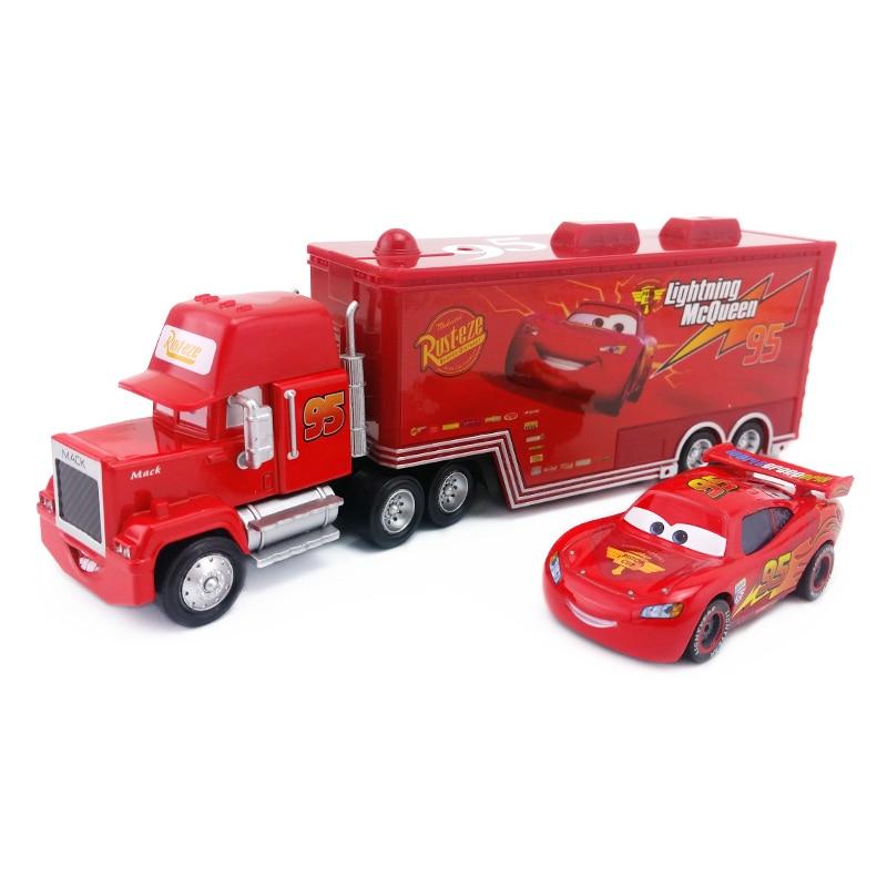 Disney Pixar Cars Mack Lightning McQueen & Chick H...