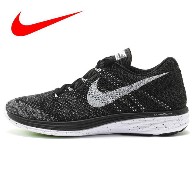 online store 41627 f2000 Original Official New Arrival Authentic Nike FLYKNIT LUNAR 3 Men s Mesh  Light Running Shoes Sneakers Trainers