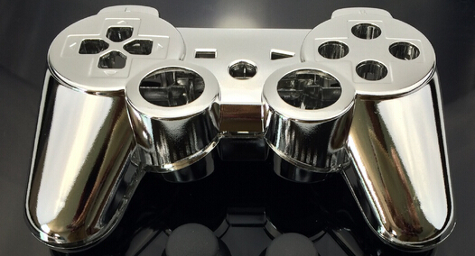 custom chrome silver color shell for ps3 controller chrome silver shell mod kit without small parts - Manette Ps3 Color