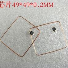 13.56MHz HF COB e antenna IC bobina di saldatura domestico Fudan F08 chip RFID tag 49*49*0.3mm 14443A