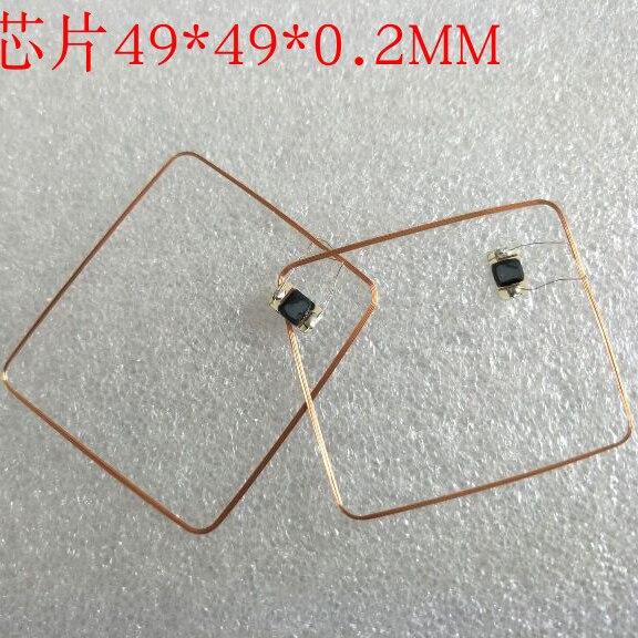 13.56MHz HF COB i antena IC cewka spawalnicza domowe Fudan F08 chip zawieszki RFID 49*49*0.3mm 14443A