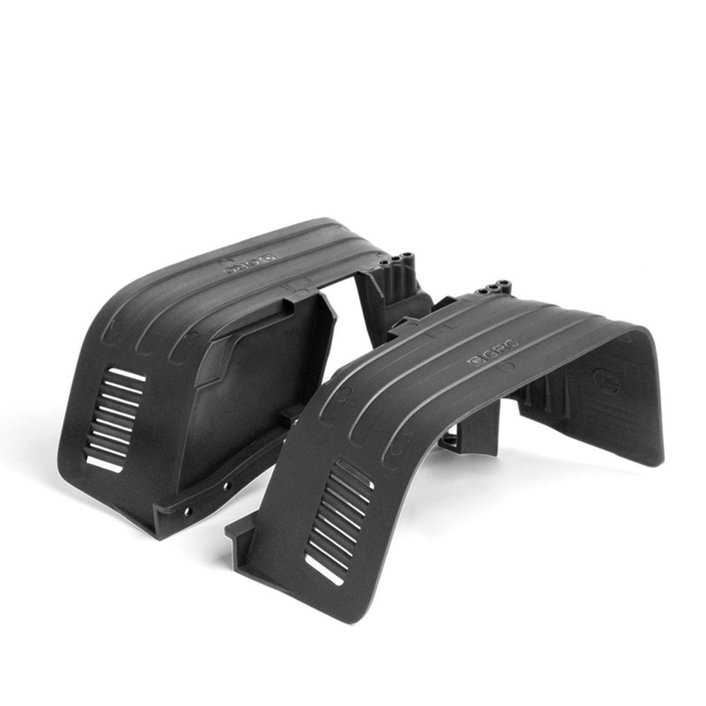 Image 3 - INJORA Black Plastic Front&Rear Mud Flaps Fender for 1/10 RC Crawler Axial SCX10 II 90046 90047Parts & Accessories   -