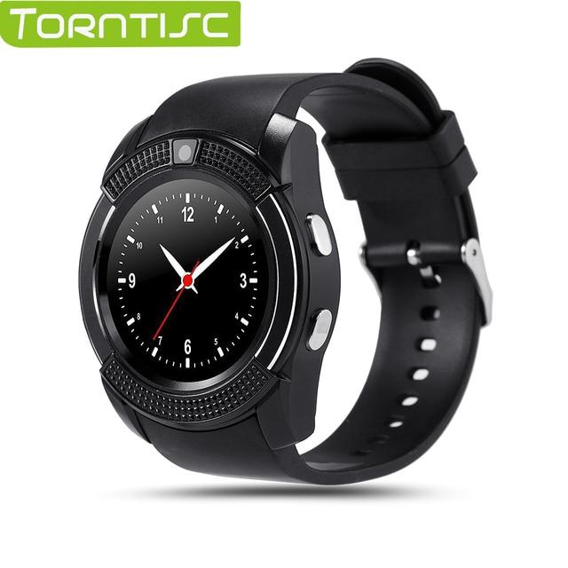 """Torntisc V8 Smart Watch MTK6261 1.22 """"дюймовый HD Полный Круг Дисплей 0.3 М камера Поддержка 32 Г TF Карта Micro Sim-карты Для IOS Android"""