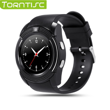 Torntisc V8 Smart Watch MTK6261 1.22″inch HD Full Circle Display 0.3M Camera Support 32G TF Card Micro SIM Card For IOS Android