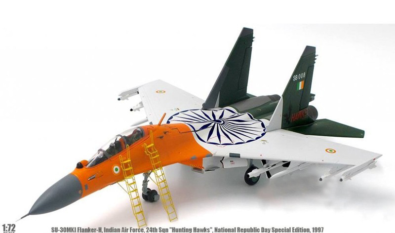 rare Special Offer 1 72 fine Su 30MKI fighter Indian Air Force National Day Painting Alloy