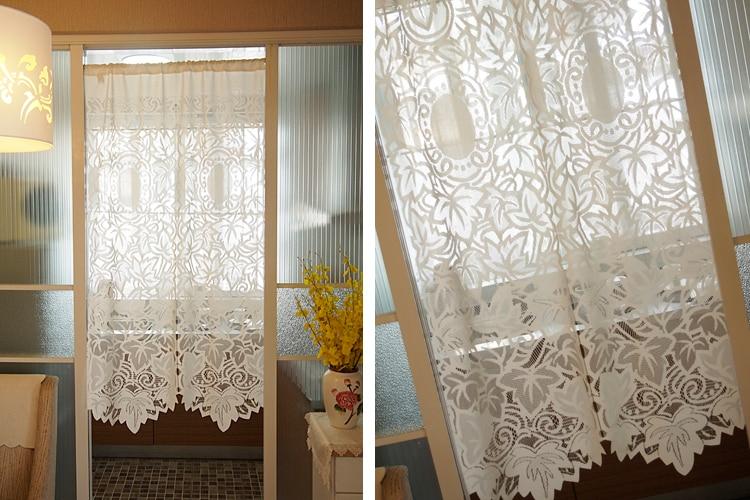 pastorale maille gaze cuisine rideau de porte deux modeles 85 x 150 cm courtes fini rideaux de fenetre