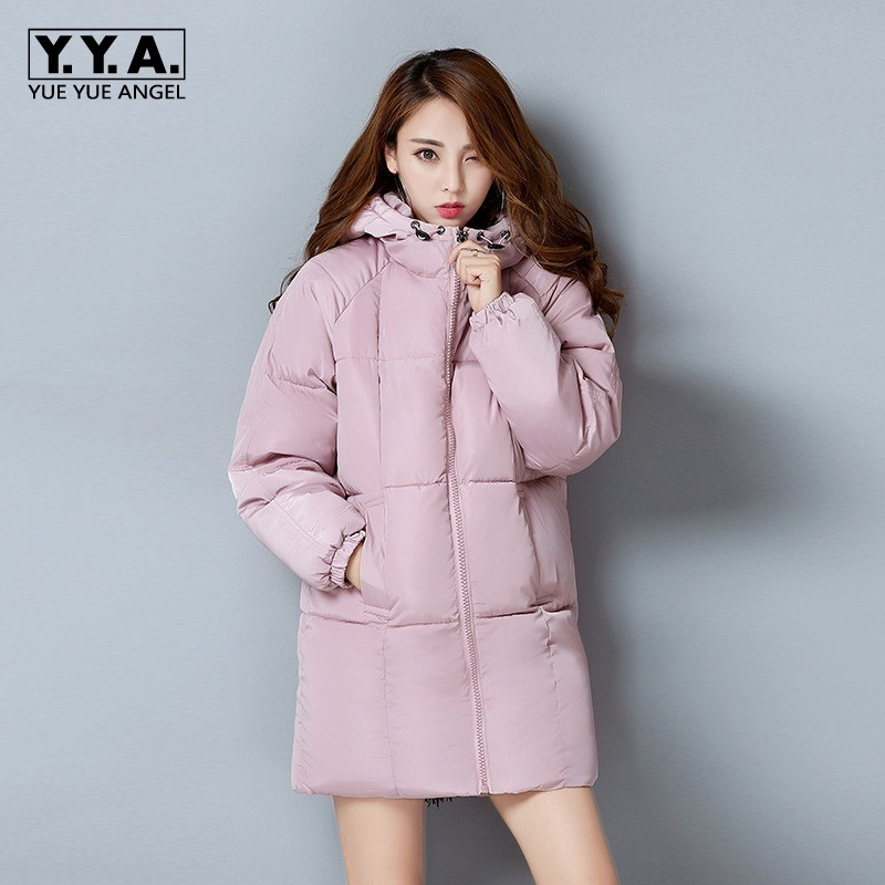 Winter Warm Down Jacket For Women Hooded Thick Parka Korean Slim Fit Coat Female Casual Outwear Overcoat Cotton Jaqueta Feminina short style parka winter cotton down jacket for men korean big size l 4xl slim fit stand collar man casual coat homme grey e374