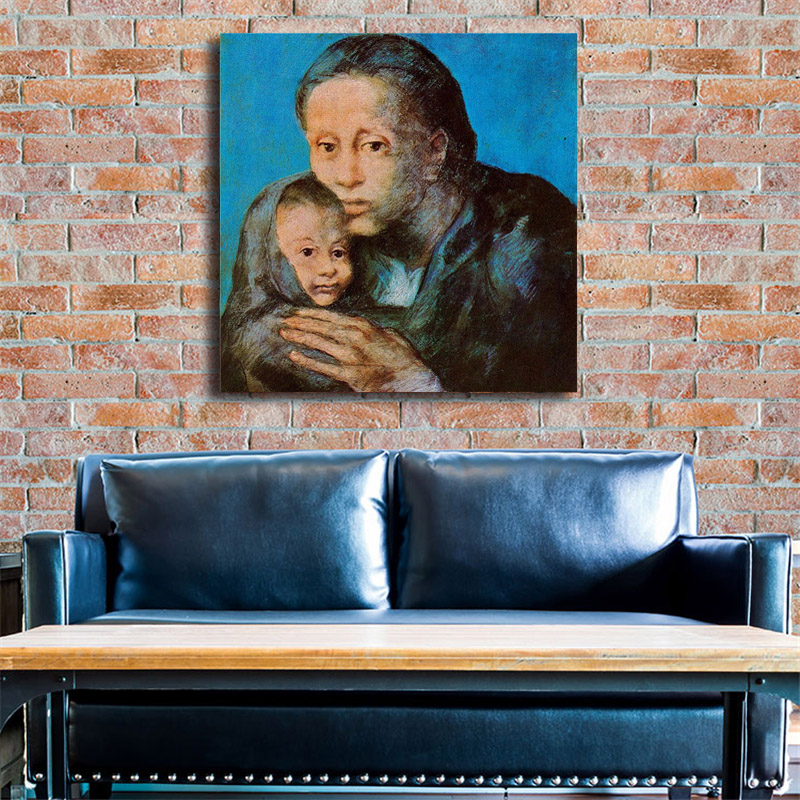 Pablo Picasso Mother And Child Canvas Posters Prints Wall Art Oil Painting Decorative Picture Modern Home Decoration Accessories in Painting Calligraphy from Home Garden