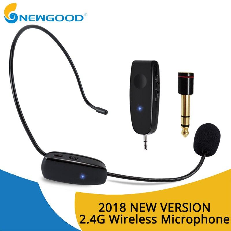 2.4G Wireless Microphone Speech Headset Megaphone Radio Mic For Loudspeaker Teaching Meeting Guide Mic With 6.5mm Adapter