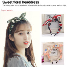 Women Headband Fashion Striped Hairband Hair Accessories Bow Knot Girls Small Fresh Adults