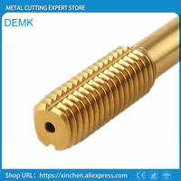 Taps HSS Coated titanium extrusion No scrap high performance thread Tapping steel stainless steel processing 10PCS