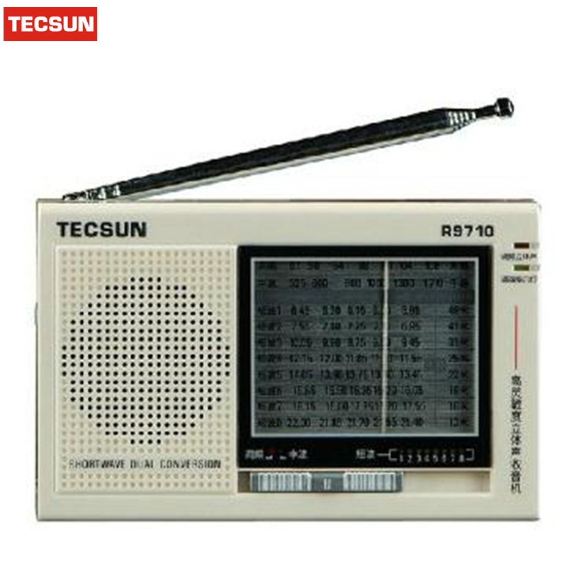 Angemessen Original Tecsun R-9710 Fm/mw/sw Doppelkonversion Welt 3-band-funkempfänger Mit Eingebauter Lautsprecher Tragbare Hohe Empfindlichkeit Radio Unterhaltungselektronik Radio