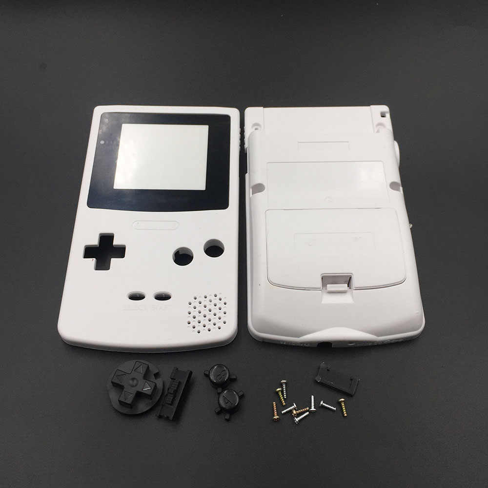 White Grey For Nintendo Gbc Gameboy Color Replacement Housing Shell Case Cover Skin Aliexpress