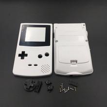 Beyaz ve Gri Nintendo GBC GameBoy Renk Değiştirme Konut/Kabuk Kılıf Kapak Cilt