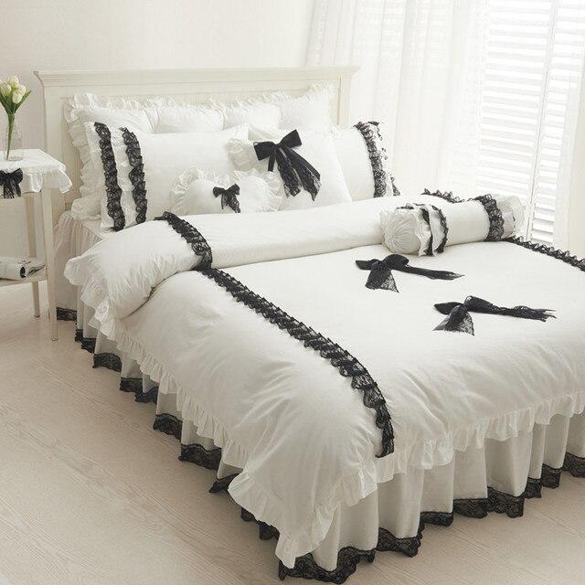 couvre lit avec dentelle Nouvelle arrivée Noir Dentelle couvre lit princesse Couvre lit  couvre lit avec dentelle