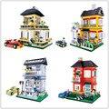 Diy regalo de navidad enlighten niño 31053 juguetes educativos wange villa casa juguetes juegos de bloques de construcción juguetes compatiable con el juguete