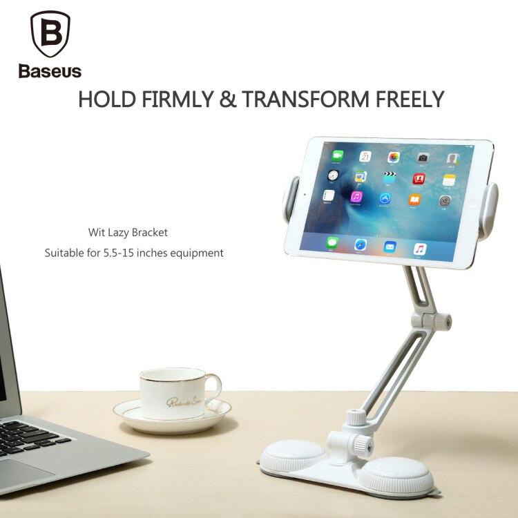<font><b>Baseus</b></font> Long Arm <font><b>Wit</b></font> <font><b>Lazy</b></font> <font><b>Bracket</b></font> <font><b>For</b></font> 5.5 -15 inch Phone iPad Pro Mini 2 4 <font><b>Suction</b></font> <font><b>Cups</b></font> Adsorption Phone Tablet PC Holder <font><b>Stand</b></font> 3