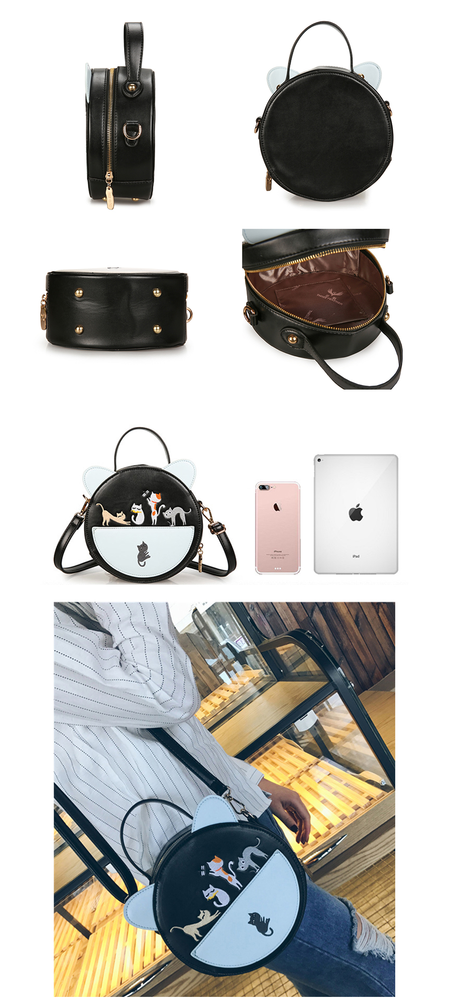 Cat Ear Crossbody Bag