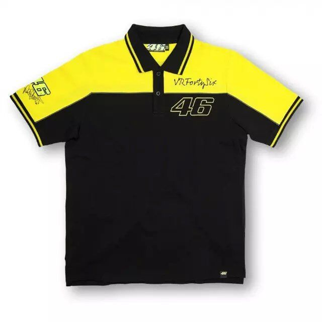 2017 summer mens comfortable leisure MOTOGP46 Rossi VR46 motorcycle racing cotton short-sleeved T-shirt golf short T polo shirt