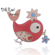 Cute Animals Bird Brooch Cartoon Alloy Metal Enamel Brooches Pinsfor Women Clothing Knapsack Accessories Female Jewelry