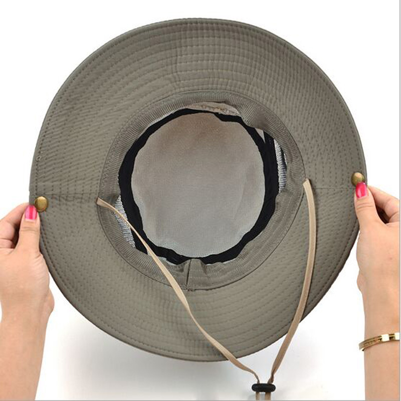 9606235102e02d Classical Outdoor Bucket Hat Brim Quick drying Breathable Sun Hats Hiking  Fishing Climbing Toucas Gross UV Protection HT51185-in Sun Hats from  Apparel ...