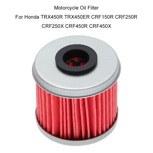 US $1 67 35% OFF|Motorcycle Oil Filter For Honda TRX450R TRX450ER CRF150R  CRF250R CRF250X CRF450R CRF450X-in Oil Filters from Automobiles &