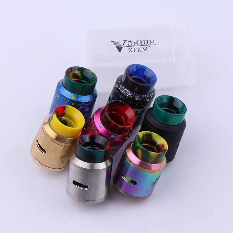 Nueva xfkm Goon V1.5 RDA ecigarette atomizador goteo rebuildable 24mm vs Goon 528 RDA fit 510 mod del cigarrillo