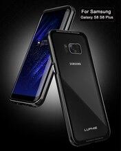 Luphie Роскошный чехол для Galaxy S8 случае Плюс Прозрачный Стекло чехол противоударный Рамка Панцири для Samsung Galaxy S8 Plus крышка
