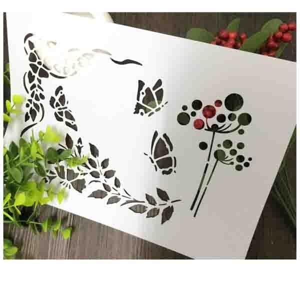 dandelion butterfly scrapbooking tool card diy album masking spray