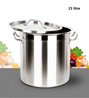 FREE SHIPPING 21 LITRE Stainless Steel Soup Stock Barrel Thick Soup Large Commercial Household BUCKET Of