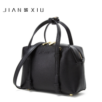 JIANXIU Brand Genuine Leather Handbag Luxury Handbags Women Bags Designer Shoulder Bag 2019 New Litchi Pattern Tote Boston Bag